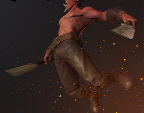 3D asset rigged Red Orc