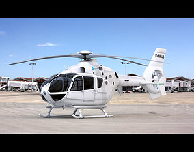 Eurocopter EC 135 Generic White 3D model