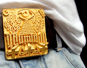 Illuminati Belt Buckle 3D print model