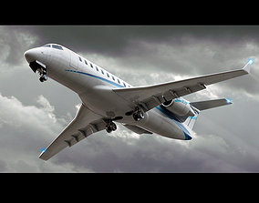 Bombardier Challenger 850 Private Jet 3D model
