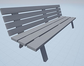park furniture Bench 3D asset VR / AR ready