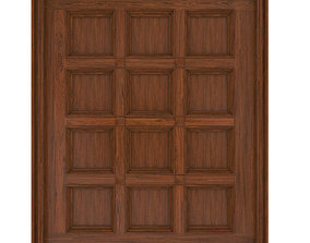 Classic wooden ceiling with caissons 01 3D