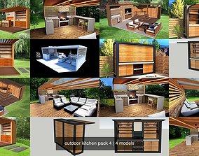 3D outdoor kitchen pack 4