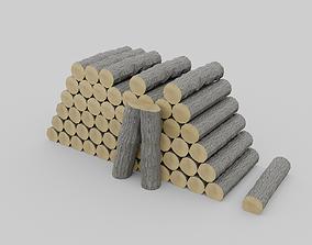 Firewood Pile 3D asset