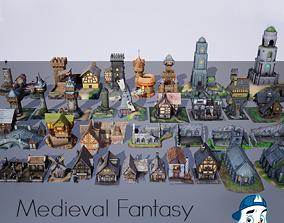 3D model Medieval Fantasy Buildings Pack