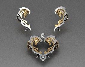 3D print model Horse necklaces