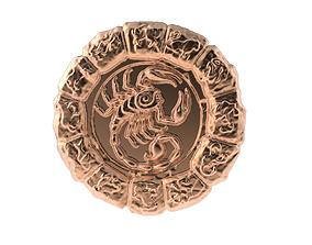 3D print model Medal Astro Scorpio