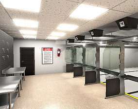 Shooting Range Interiors 3D asset