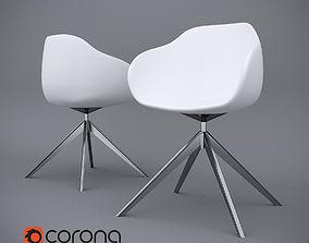 chair alki 3D model rigged