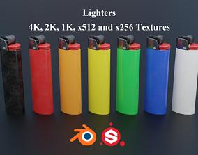 Lighters PBR 3D model