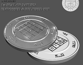 1st Seal of Saturn 3D print model