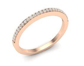 3D print model Diamond Anniversary Wedding Band for