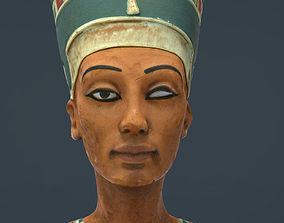 Bust of Queen Nefertiti 3D asset