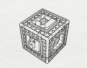 3D printable model Baby Block Charm - J