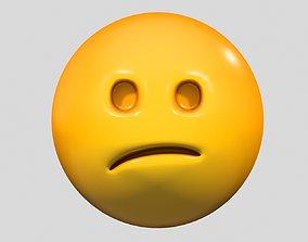 3D model Emoji Confused Face