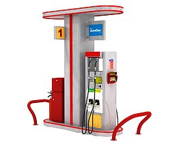 3D model Petrol Gas Station Autogas Pump-2