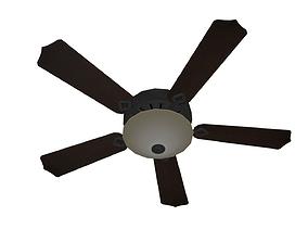 Ceiling Fan 3D asset animated
