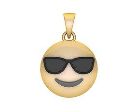 3D print model Cool Emoji Pendant