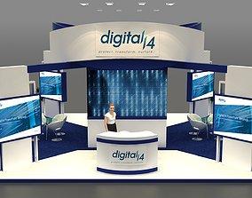 3D Exhibition Stand 8x8x4 meter