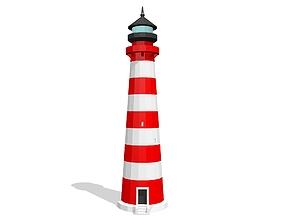 3D asset Lighthouse printable model