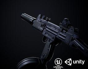 3D model Uzi SMG PBR