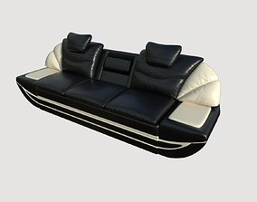 3D model Leather Sofa 3