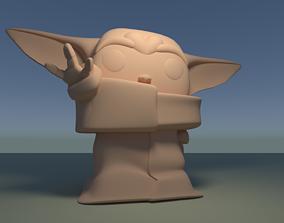 Custom Pop Alien Figure 3D Print DIY Model