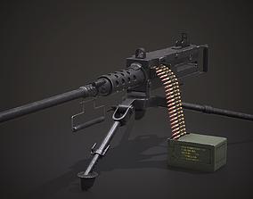 Machine gun - Browning M2 - Low Poly 3d VR / AR ready