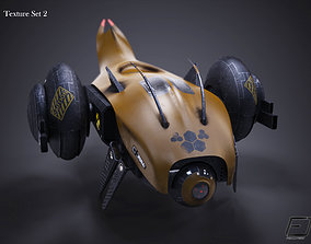 Sci-Fi Drone 3D model game-ready