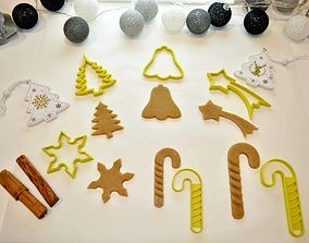 3D printable model Christmas Cookie Cutter Set 5 Pieces