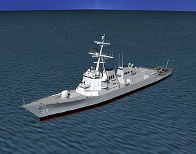 3D model Burke Class Destroyer DDG 77 USS O kane