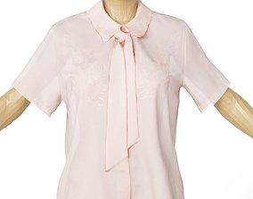 Shirt Salmon See Through Women Clothing 3D model