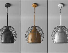 Cage lamp suspended like Diesel Foscarini 3D model