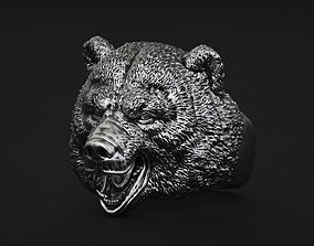 jewel Bear ring STL OBJ 3d model for 3d printing