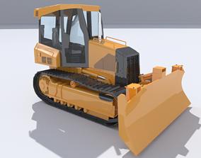 digger Bulldozer 3D model VR / AR ready