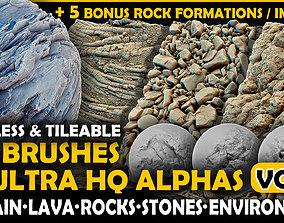 Ultra HQ Terrain Seamless Sculpt Zbrush brushes and 3D 2