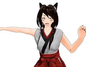 3D Japanese - AnimeDesign - AnimalMikoGirl