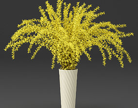 3D model Bouquet of yellow flowers Forsythia