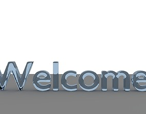 Liquid Welcome Text Animation 3D