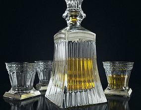 Set for whiskey Linea Argenti CR1859 3D model