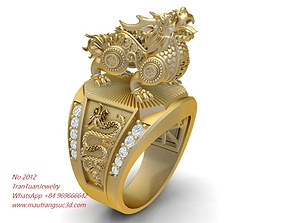 3D print model 2112 Luxury Unicorn Ring new Design 1