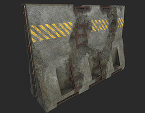 Concrete Barrier Destroyed and New 3D model