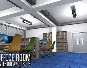 3D model Office room - interior and props