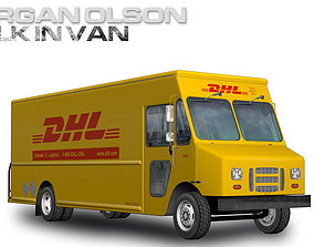 Morgan Olson Walk in Van DHL 3D model
