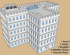 6mm or 8mm Modular Gothic T-Building 3D print model