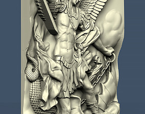 3d STL model for CNC Archangel Michael and the