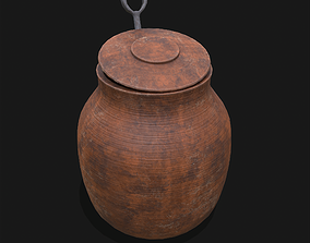 Pot with Spoon 3D model
