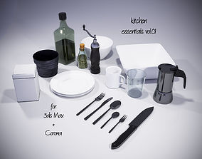 kitchen essentials vol01 for Corona and 3dsMax fork