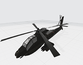 military 3D Attack helicopter