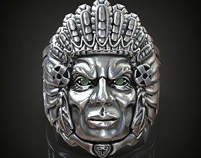 3D printable model Indian warrior ring